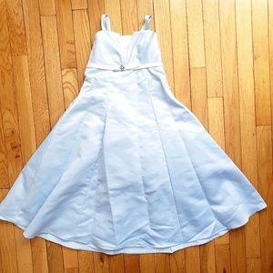 Girl's blue princess dress with rhinestones